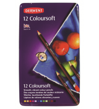 Derwent Coloursoft potloden in blik