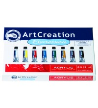 Acrylverf assortimentsdoos Art Creation 8 tubes 12ml